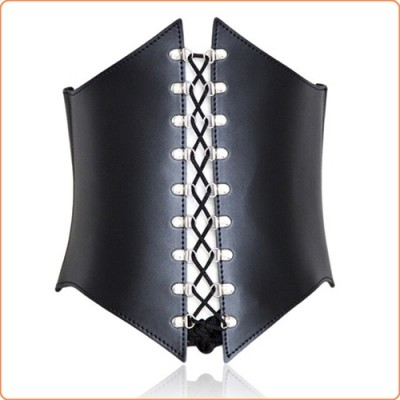 Wholesale Leather Buckle Strap Waspie Corset