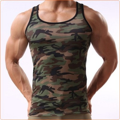 Wholesale Army Style Camouflage Hard Men Vest