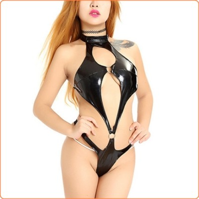 Wholesale Enamel Leather Lingeire Flirt Clubwear