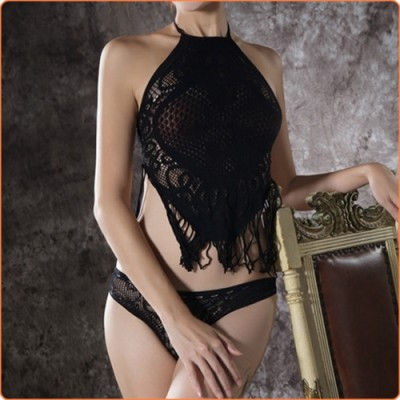 Wholesale Sexy Lady Hollow Out See-through Tassel Lingerie