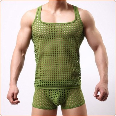 Wholesale New Design Checked Hollowed-out Vest Made For Men