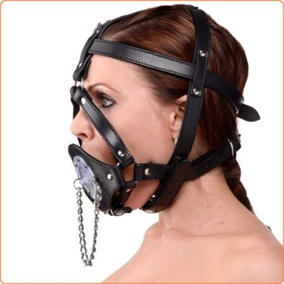 Wholesale Plug It Up Leather Head Harness with Mouth Gag