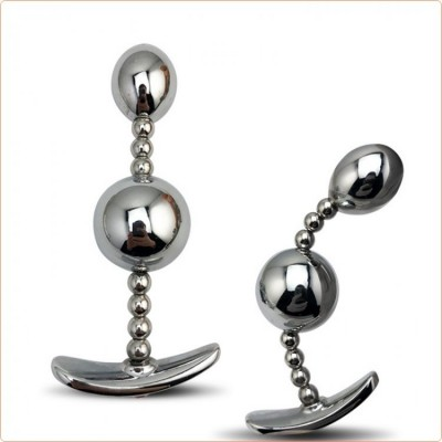 Wholesale Bendable Double Ball Steel Butt Plug