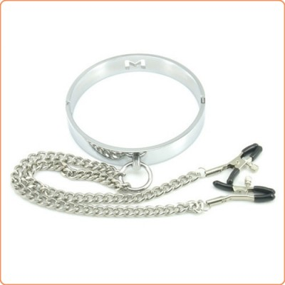 Wholesale Chrome M Hole Collar with Nipple Clamps