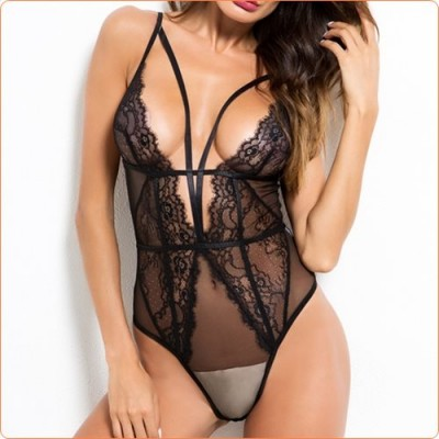 Wholesale New Fashion Topless One-piece Deep V Neck Lingeries
