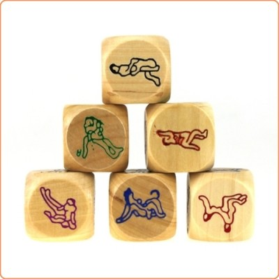 Wholesale Six Sex Positions Wood Dice