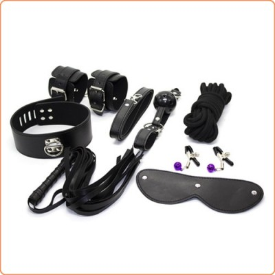 Wholesale Lockable Fetish 7 Piece Bondage Teaser Kit