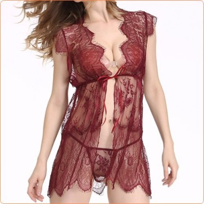 Wholesale 2017 New Special Designed Lace-up Nightwear With T-back