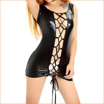 Wholesale Adult Leather Lace-up Couples Flirting Skirt