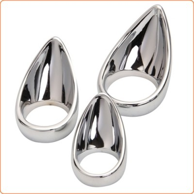 Wholesale Chrome Plated Teardrop Cock Ring