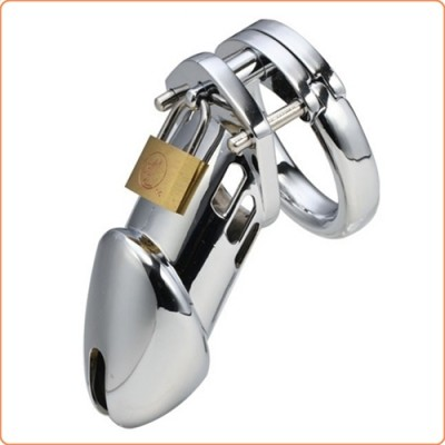 Wholesale Steel Male Padlock CB6000 Chastity Cage Device - Big