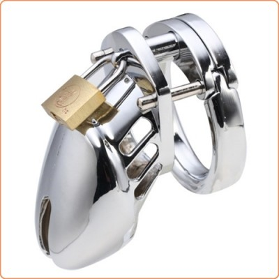 Wholesale Steel Male Padlock CB6000S Chastity Cage Device - Small