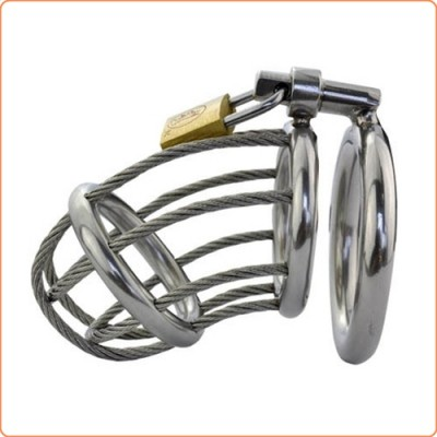 Wholesale Wire Locking Cock & Ball Chastity Set