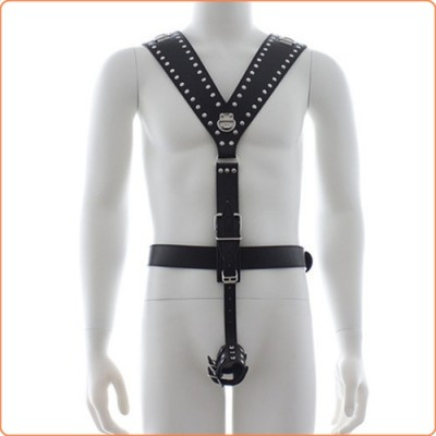 Wholesale Men\'s Body Harness with Cock ring