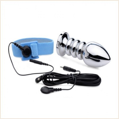 Wholesale Vivid Uni-Polar E-Stim Cock and Ball Strap and Anal Plug