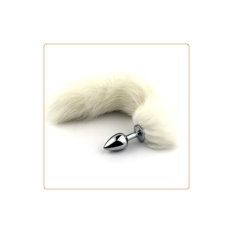 Wholesale White Arctic Fox Tail Fetish Anal Butt
