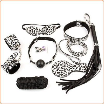 Wholesale Leopard Bondage Kit - 8 Pcs