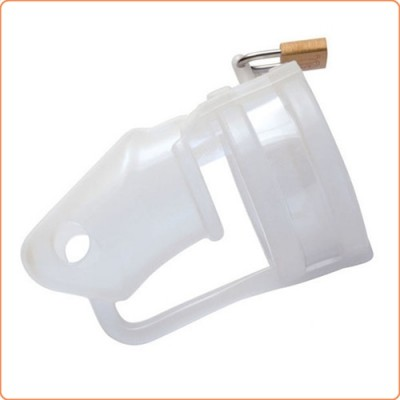 Wholesale Chastity Cage Silicone Birdlocked - Transparent