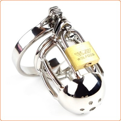 Wholesale Double Ball Ring Chastity Cock Cage
