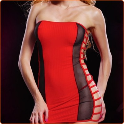 Wholesale Chic Hollow Out Strapless Hot Dress With Panty
