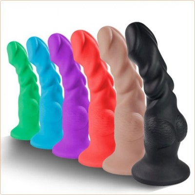 Wholesale Monster Colorful  Silicone Realistic Dildo