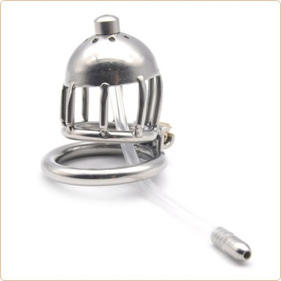 Wholesale Chastity Device Cage with Catheter Tube