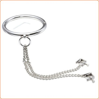 Wholesale Steel Neck Slave Collar Restraint With C-clamps