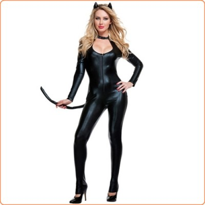 Wholesale Extreme Sexy Catwomen Cosplay Jumpsuit Uniform