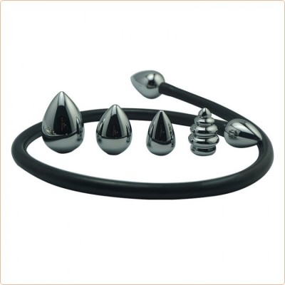 Wholesale 4 In 1 Double Head Soft Tube Butt Plug