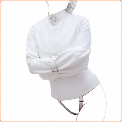 Wholesale Strict Leather Premium Straight Jacket - White