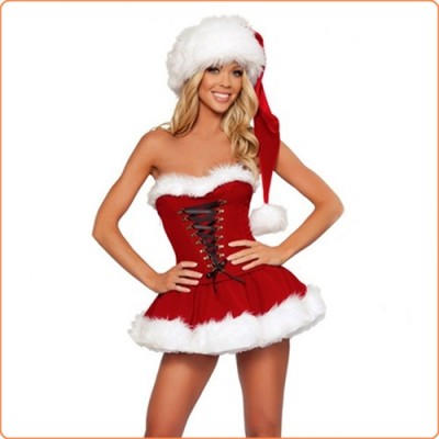 Wholesale Fashion Cosplay Santa Sexy Corset-style Suit Costume