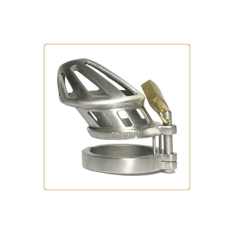 wholesale bon4m stainless steel locking cock cage chastity