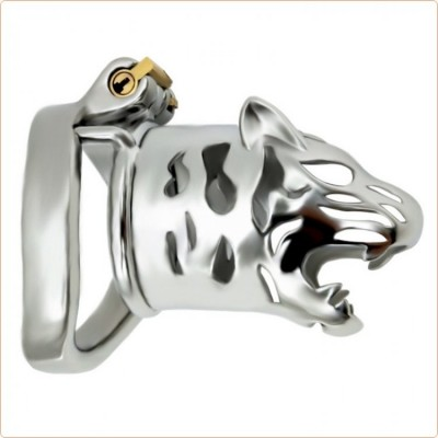 Wholesale Tiger Head Bend Ring Cock Cage - Long