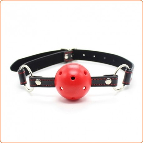 Wholesale Pin Buckle Breathable O Ring Black Strap Ball Gag