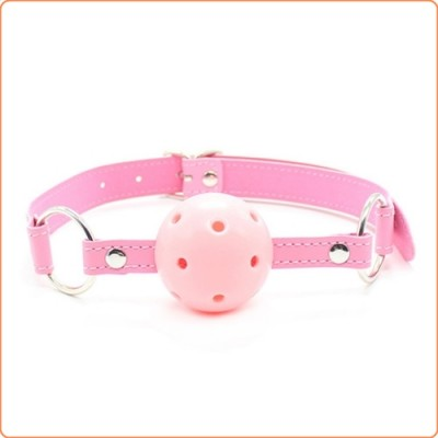 Wholesale Pin Buckle Breathable O Ring Pink Strap Ball Gag