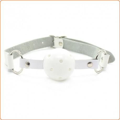 Wholesale Pin Buckle Breathable O Ring White Strap Ball Gag