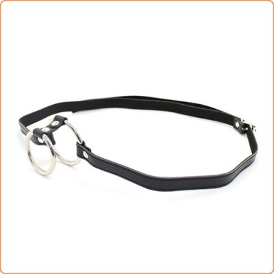 Wholesale Bondage Boutique Double Ring Steel Cock Ring With Strap