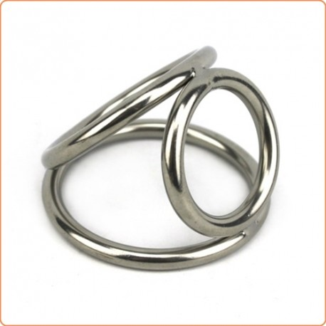 Wholesale Triple Chrome Cock and Ball Ring