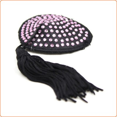 Wholesale Heart Stones Nipple Covers With Tassels