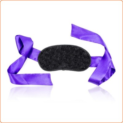 Wholesale Rose Flower Face Tie Belt Blindfold
