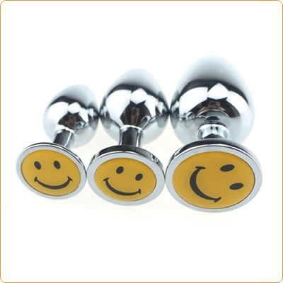 Wholesale Smiling Face Stainless Steel Anal Plug