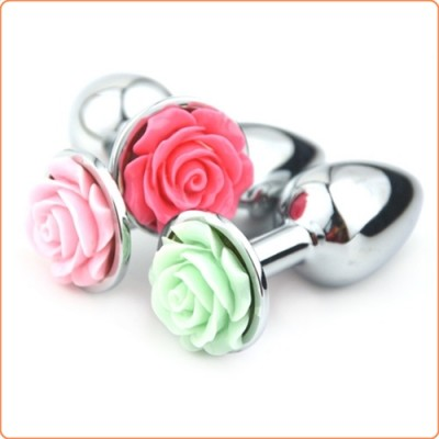 Wholesale Flower Stainless Steel Butt Plug