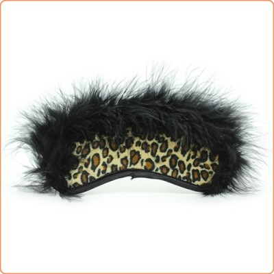 Wholesale Villus Leopard Blindfold Mask