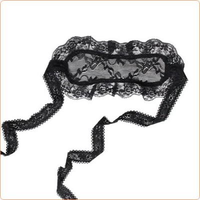 Wholesale Black Charming Floral Lace Eyeshade Accessories