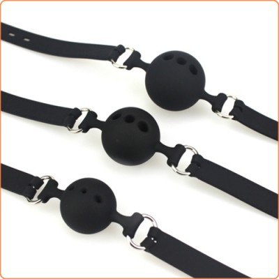 Wholesale Silicone Breathable Ball Gag - 3 Size