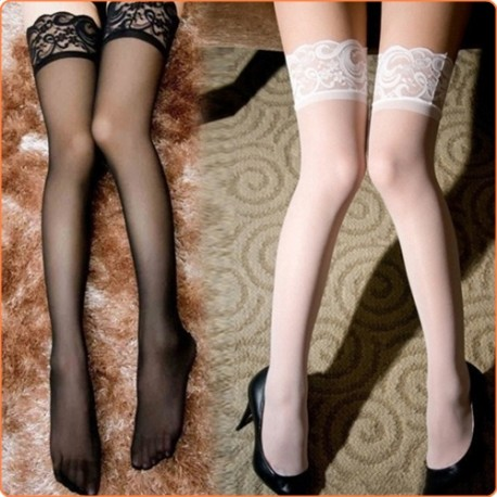 Wholesale Hot Mesh Stockings With Floral Lace