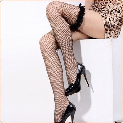 Wholesale Cheap Selling Sexy Mesh Stockings With Lace Trim