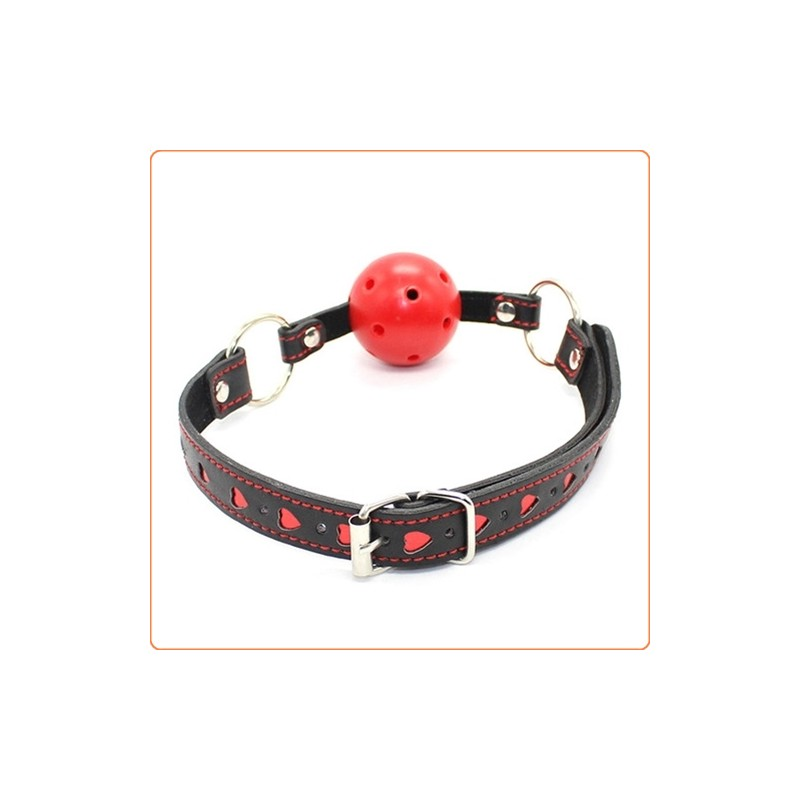 Wholesale Pin Buckle Breathable O Ring Heart Strap Ball Gag
