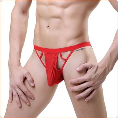 Wholesale Sexy Hollow Out Assless Men T-string