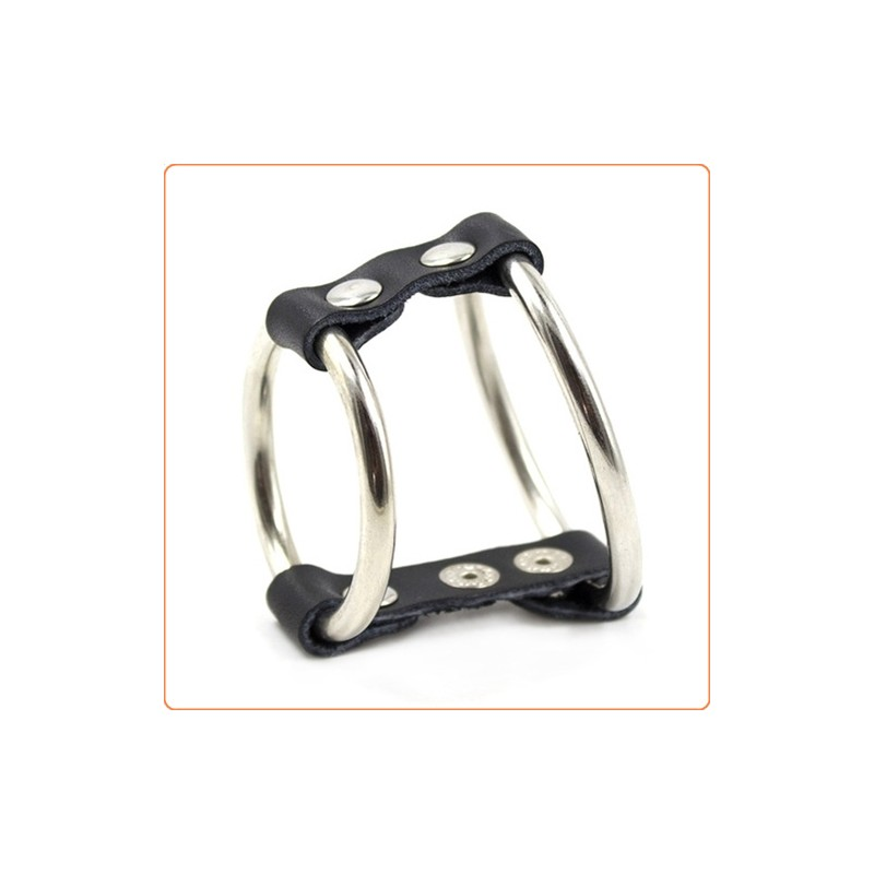 Wholesale Strap and Steel Cock Ring and Ball Divider